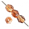 Fire Polished 4mm Brown Two-Tone